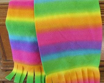 """Fleece Scarf - Rainbow Colors (9"""" x 59"""")"""