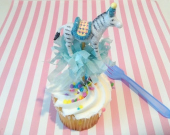 Single Zebra Cake/Cupcake Topper