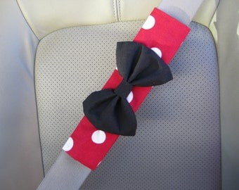 Seat Belt Cover Bow - Custom Seatbelt Cover with Bow BF11114