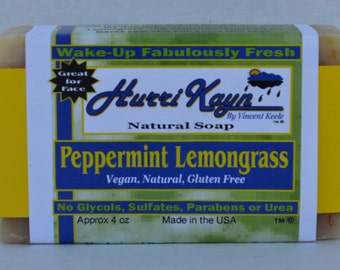 Peppermint Lemongrass Facial Bar Soap