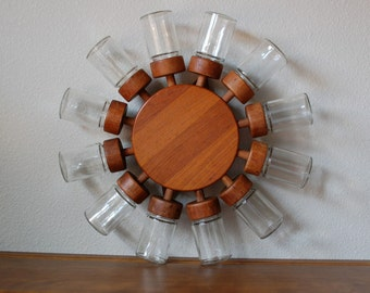 Digsmed12 jar spice wheel teak danish modern denmark mid century
