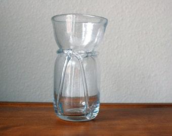 Vintage hand blown glass flower vase