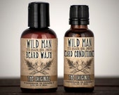 Beard Gift Set - TWO PACK - Beard Oil Conditioner + Wash Grooming Kit for Him