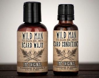 Beard Gift Set - TWO PACK - Beard Oil Conditioner + Wash Grooming Kit