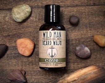 Wild Man Beard Wash - COVE - Beard Soap Shampoo For Him - 60ml // 2oz