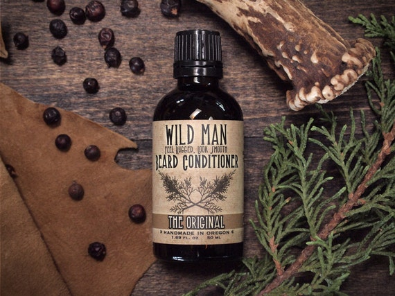 Beard Oil Conditioner - Wild Man - The Original - 50ml // 1.69oz - Grooming For Him