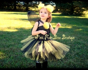 Bumble Bee Halloween costume, Pageant Tutu , Bumble Bee Tutu Costume, Infant Bumble Bee Halloween Costume, 6months - 18 months