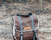 Brown Highlands panniers // front touring panniers,  small commuter panniers