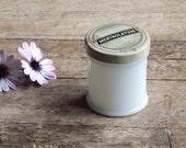 Vintage Mentholatum Milk Glass Jar