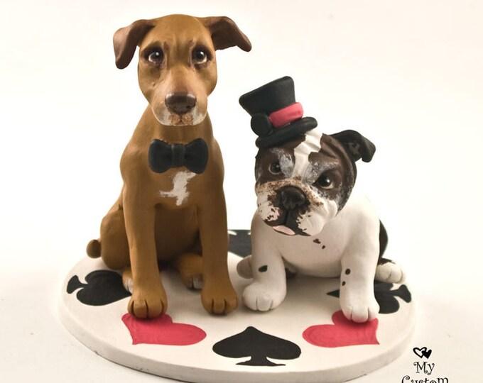 Pet Dogs Wedding Cake Topper Custom