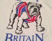 Vintage Great Britan English Bulldog T-Shirt