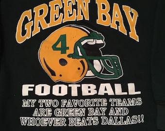 Vintage Green Bay Packers Brett Favre Crew Neck Sweatshirt