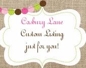 Custom Listing reserved for Matika