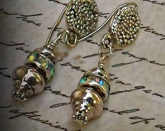 Deco Elegance Silver Earrings