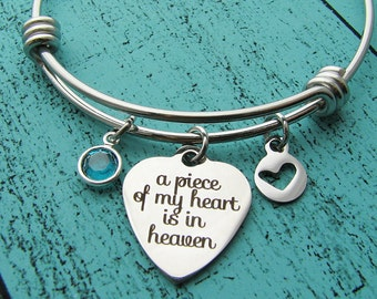 loss of loved one, memorial gift bracelet, miscarriage jewelry, sympathy gift, infant loss pregnancy loss, remembrance gift, birthstone