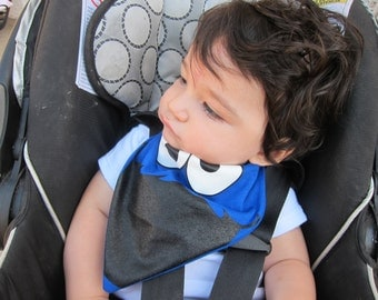 Bandana Bib - Baby Toddler Bandana Bib - COOKIE MONSTER - Drool Bib
