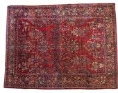 8x11 Stunning Vintage American Sarouk Rug