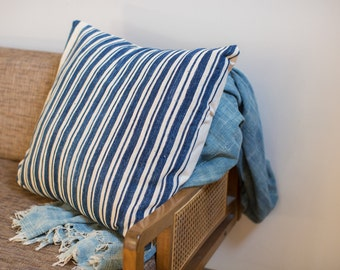24x24 Oversize Indigo Blue Pillow