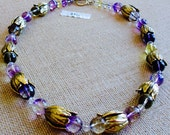 Gemstone Ametrine Lavender Necklace