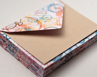Bicycle Mini Cards, Set of 6, Blank Cards, Enclosure Card, Advice Card, Gift Card, Favor Cards, Guestbook Alternative