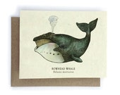 Bowhead Whale Greeting Card - Plantable Seed Paper - Blank Inside