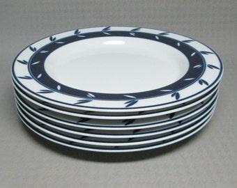 DANSK Concerto Allegro blue salad luncheon plate set of 6