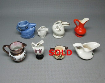 CHOOSE ONE !!! vintage mini pitcher / miniature for your collection