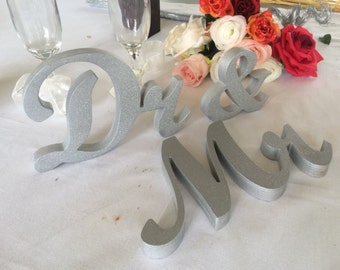 Mr. and. Dr.. sign set. Mr & Dr., Dr and Dr, Mrs and Dr or Mr and Mrs also available