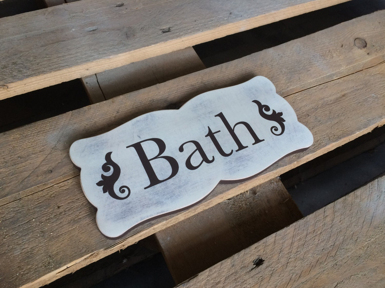 bath sign custom hanging letters brown ribbon wall letters cottage bath sign bath wall decor bathroom wall rustic 748