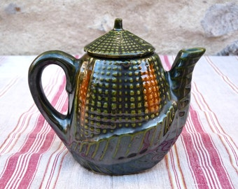 French Vintage Teapot Shaped Corn French Vintage French Tea Time Rustic Primitive