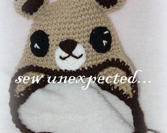 Teddy Bear earflap beanie