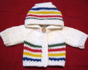 Hudson's Bay Inspired Hoodie for 13-14 Inch Dolls