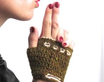 Crochet Tweed Driving Gloves - PDF Pattern