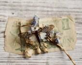 insect print, rustic home decor, still life, cicada art print, white art, dried flower art, insect nursery art, bug art, spring decor