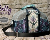 Betty Bowler Swoon Diaper bag purple Tree of Life Tula Pink Birds and the Bees Carry on Purse Handbag