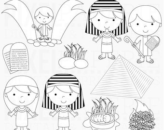 bible characters christian stamps clipart clip art moses - Moses Digital Stamps