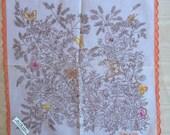 Vintage Unused Handkerchief with Butterflies 1365