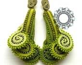 "Tutorial: 3D earrings ""Young Ferns"""