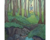 "Tom Bombadil Wall Art Print - Print of Original Watercolor Painting - Lord of the Rings Fan Art - Woodland Wall  Art 8 1/2"" x 11"""