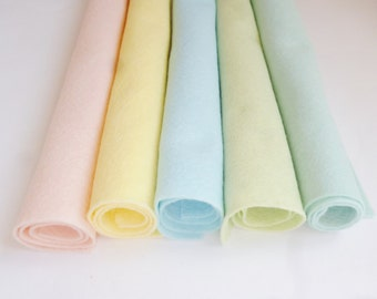 Felt sheets pastel wool blend felt arts and crafts 12inch felt square