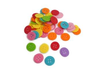 Pre cut felt shapes Felt circle button small Fabric felt patch fabric accessories crafts