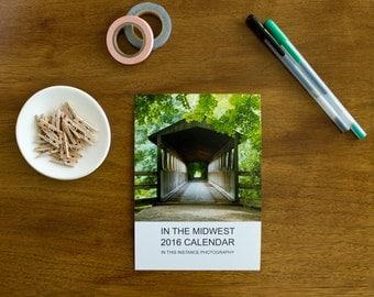 Nature Desk Calendar, Midwest Photography, 2016 Calendar, Nature Photography Calendar, In the Midwest