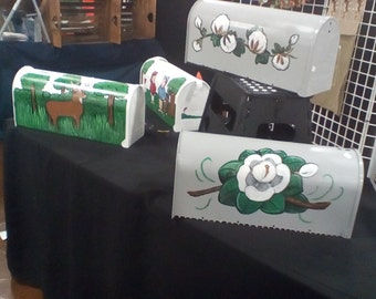 Hand painted mailboxes