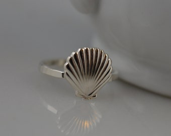Sterling Silver Seashell Ring