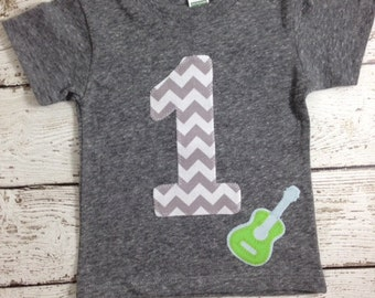 Rock and roll party, rockin' 1, Rock out in this fun guitar tee, rock and roll party, Rockstar birthday shirt, one rocks, organic tee, music