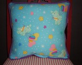 SALE Upcycled Vintage Care Bear Pillow