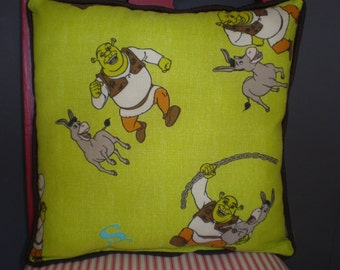 Upcycled Vintage Shrek Pillows