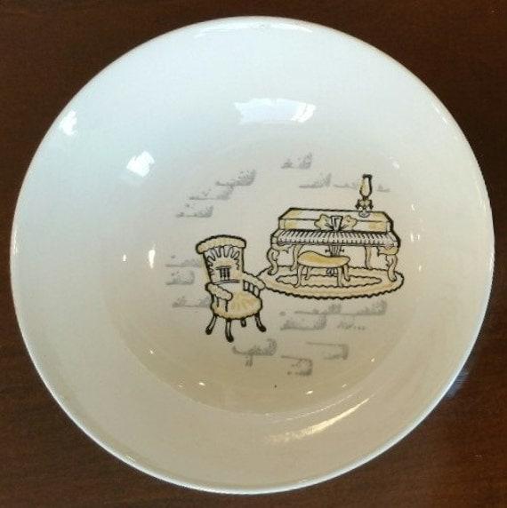 Vintage Kitchen Bowls: Vintage Marcrest Cereal Bowls Yellow Kitchen Motif Retro