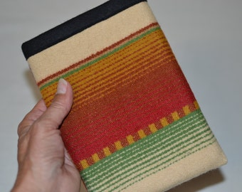 Wool Kindle sleeve kindle voyage, paperwhite, touch and more - TAILORED to YOUR DEVICE - Desert Southwest Portland Oregon Wool - earth tones