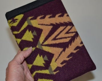 Kindle Paperwhite or Kindle Touch Sleeve case cover handmade of pendleton fabric - electronics cases Native American Eagle Rock tribal